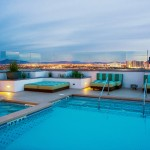 Rooftop pool and hot tub at The Ogden
