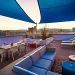 Sky deck seating area on the rooftop at The Ogden