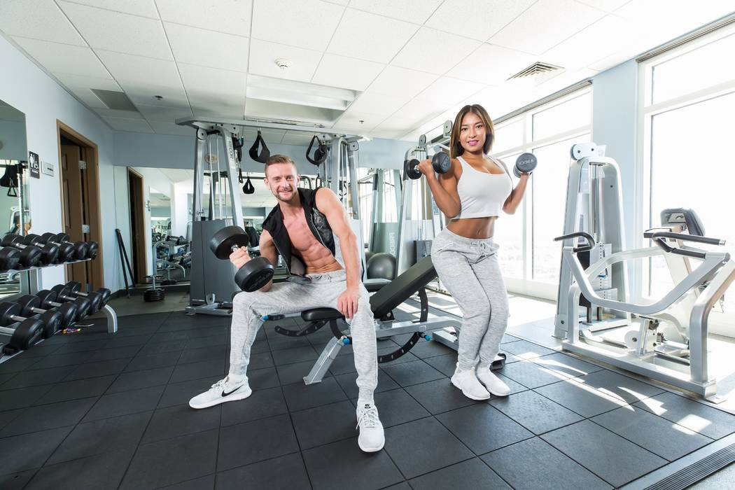 The Ogden residents, Michal and Lupita, enjoying the gym available to residents