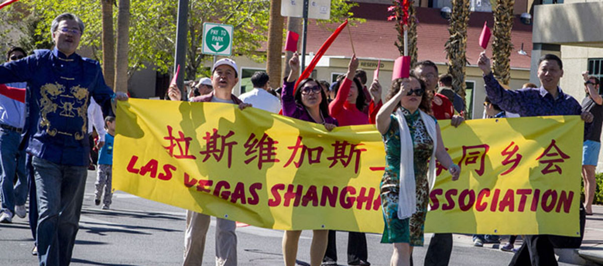 Members of the parade for Chinese New Year in Las Vegas