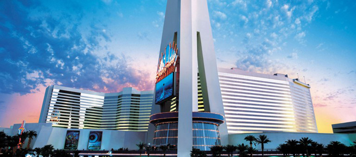 View of the Stratosphere Hotel located at the north point of the Strip.