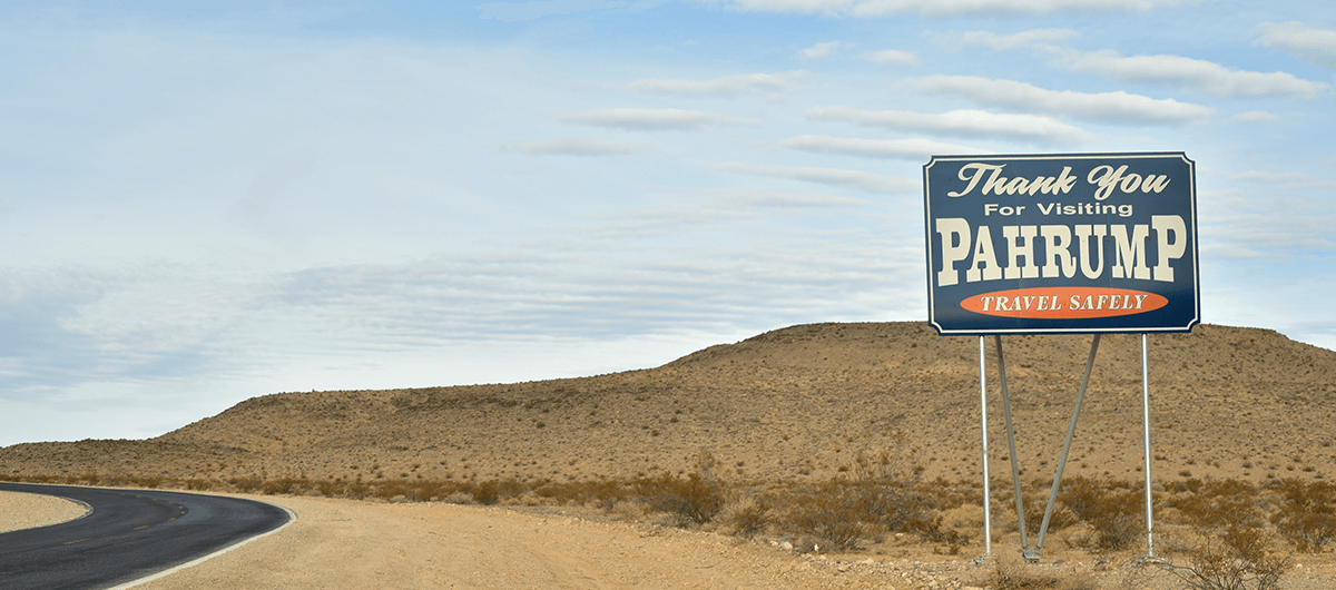 Thank You for Visiting Sign in Pahrump, Nevada
