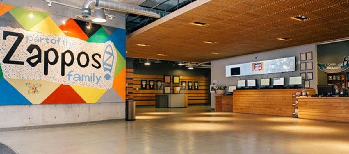 Interior of Zappos Las Vegas Lobby