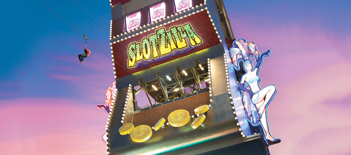 Slotzilla, largest slot machine, located on the Fremont Street Experience.