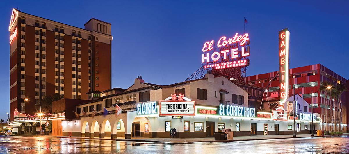 Exterior of El Cortez Hotel & Casino Las Vegas.