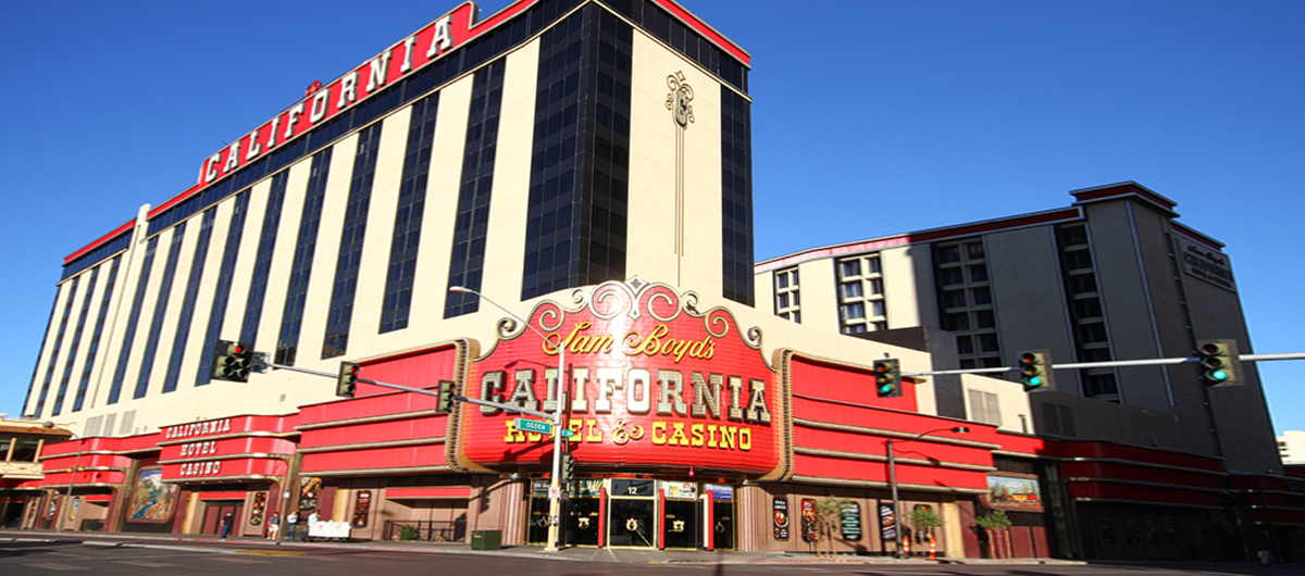 Exterior of California Hotel & Casino Las Vegas.