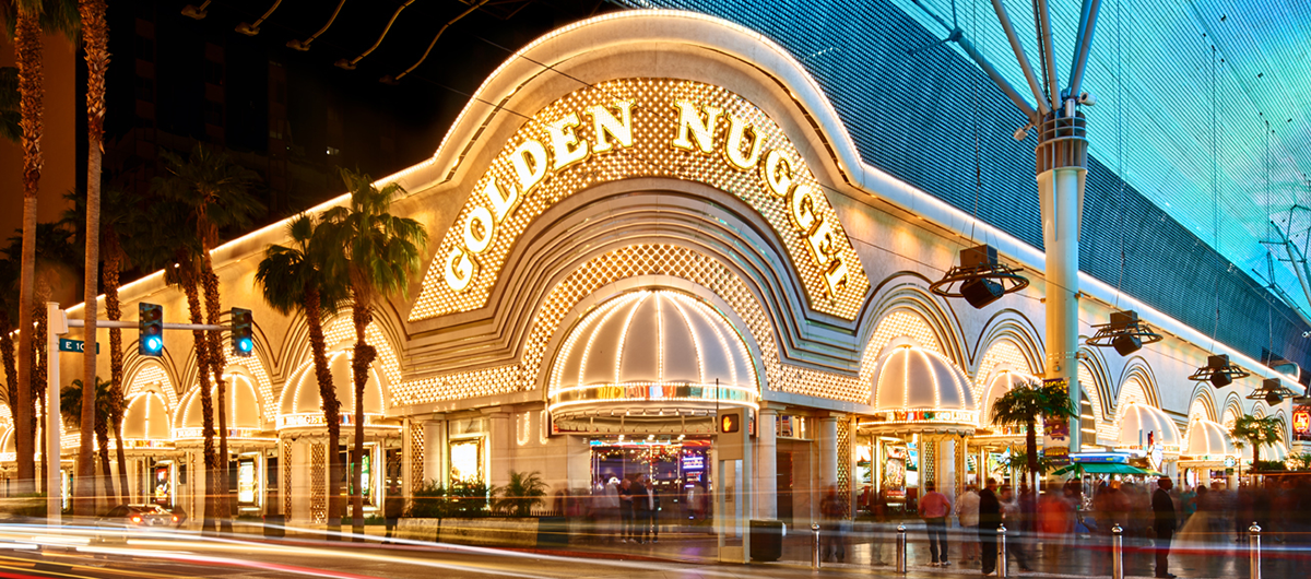 Exterior of the Golden Nugget Las Vegas Hotel & Casino.