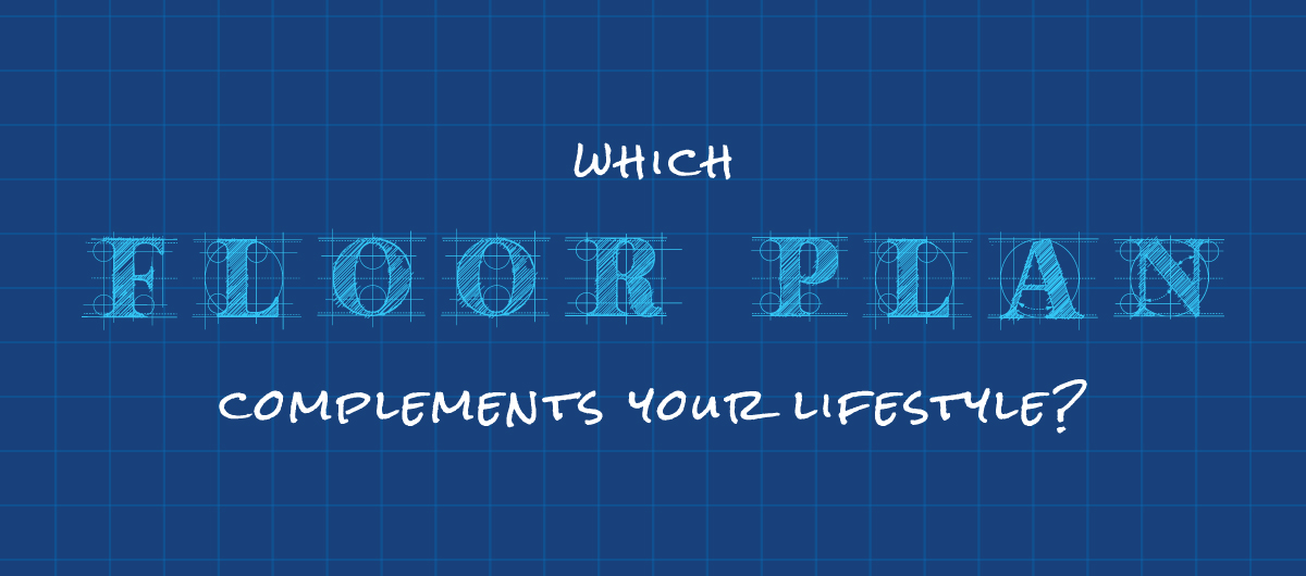 Blueprint background representing the floor plan that fits your lifestyle