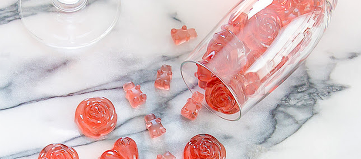 Rosé Champagne Gummy Bears by Kirbie's Cravings